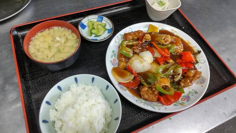 酢豚ランチ(650円)